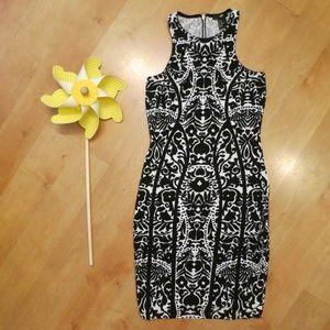 H&M Bodycon Tribal Print Dress Sz XS